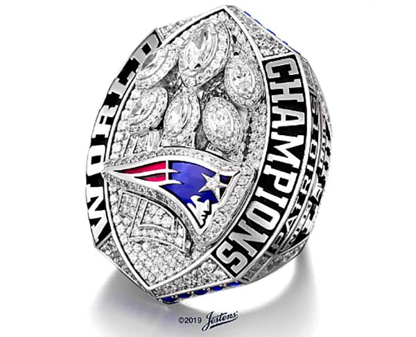 Patriots' Super Bowl LIII Championship Ring Is the Largest Ever Created